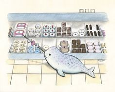Narwhals love donuts
