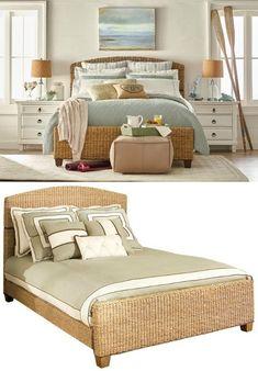Shop natural fiber beds for coastal and beach style bedrooms....   Natural fiber beds or coastal style living.