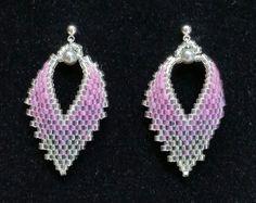 Brick Stitch Russian Leaf Earrings by BeadAndBowtique on Etsy. Just $15.00!
