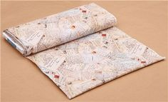 cream letter mail postcard tissu rétro Spring in Paris Elizabeth's Studio 3