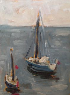 Boats - Original Fine Art Oil Painting Nautical Seascape on Canvas Paper, Funchal Madeira Portugal - Art Artwork Painting Oils Canvas Art by EmmaKateHulett on Etsy https://www.etsy.com/listing/565907795/boats-original-fine-art-oil-painting