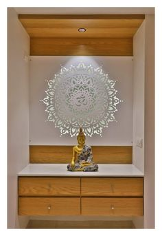 New Ideas Modern Cabinet Door Design Layout Pooja Room Door Design, Ceiling Design Living Room, Foyer Design, Living Room Designs, Sala Zen, Home Decor Bedroom, Living Room Decor, Buddha Home Decor, Temple Design For Home