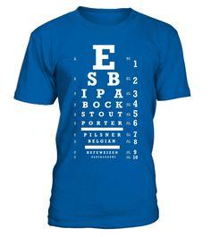 The Original Craft Beer Eye Chart T-Shirt