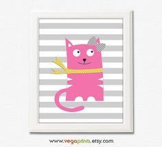 Hey, I found this really awesome Etsy listing at https://www.etsy.com/listing/223545786/baby-girl-kitten-wall-art-print-unframed