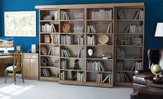 Abbott Library Murphy Bed - concealed by slide out bookshelves
