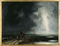 Le Cavalier ou le retour du Grognard de Paul Huet (1803-1869), huile sur toile, Musée départemental de l'Oise à Beauvais.