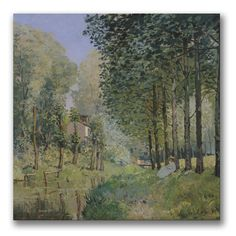 The Rest by Alfred Sisley Painting Print on Wrapped Canvas