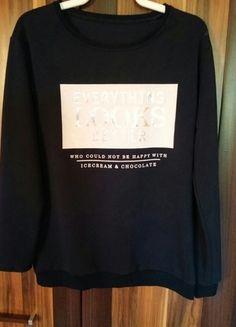 Kup mój przedmiot na #vintedpl http://www.vinted.pl/damska-odziez/bluzy/9872797-granatowa-bluza-z-nadrukiem