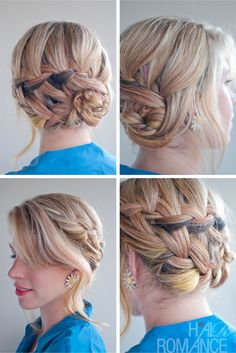 waterfall braids | Braided Hairstyle Inspirations: The Double Waterfall Braid Updo