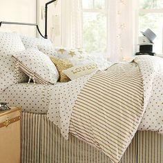 The Emily + Meritt Metallic Dottie Duvet Cover + Sham #pbteen  This is the bedding i want for her