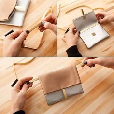 Follow this style tutorial to make a NYE clutch.