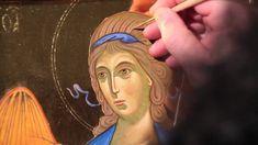 Dipingere l'icona di un Angelo: 9.2a Capelli - schiarimento