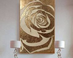 Large Abstract Painting Rose Gold Painting Textured Painting Modern Art Wall Decor Gold Leaf Resin Painting On Canvas by Julia Kotenko Rose Gold Painting, Large Canvas Art, Painted Leaves, Texture Painting, Modern Wall Art, Original Paintings, Art Paintings, Wall Art Decor, Abstract Art