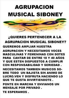Grupo Mascarada Carnaval: ¿Quieres pertenecer a la Agrupación Musical Sibone...
