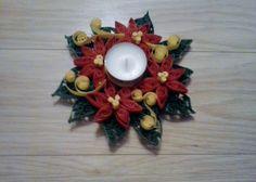 quillingowy świecznik świąteczny
