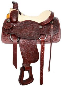 Circle S Roper with top grain smooth leather seat & silver crossed pistol conchos Western Bridles, Western Horse Tack, Roping Saddles For Sale, Kids Saddle, Cowboy Gear, Riding Gear, Horse Riding, English Saddle, Horse Supplies