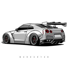 T-shirts, covers, posters, stickers – already accessible in my retailer … - Autos Online Nissan Skyline Gtr R32, Nissan Gtr R35, Gt R, Gtr Drawing, Nissan Life, Nissan Gtr Wallpapers, Sports Car Wallpaper, Fast Sports Cars, Tuner Cars