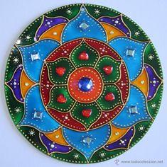 Mandala realizada en cristal