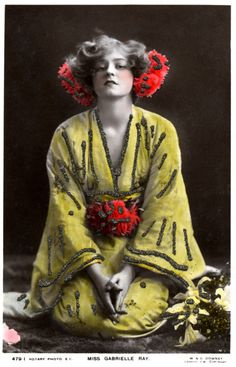 Color!  Miss Gabrielle Ray, actress, W&D Downey, London.