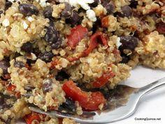 Balsamic quinoa salad with black beans