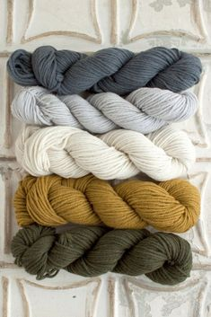 Yarn for Valley Green Inn Cowl Ash, Overcast, Natural, Mustard Seed, Evergreen Fall Color Palette, Colour Pallette, Color Palate, Neutral Color Scheme, Yarn Color Combinations, Colour Schemes, Color Schemes With Gray, Yarn Colors, Room Colors