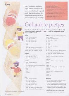 """Bekijk de foto van inebie met als titel patroon van """"10cm groot gehaakt Pietenplezier"""" en andere inspirerende plaatjes op Welke.nl."""