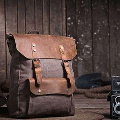 backpack/Vintage bag/unisex/messenger  bag canvas bag/leather leisure bag/Washed canvas bag/  portable /shoulder bag/diagonal tote