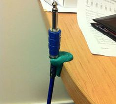 Make a desk cable holder