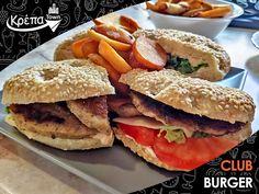 Με ένα #Club_Burger αποκλείεται να μην χορτάσεις!  ☎️ 2310.632180 💻 www.krepatown.gr 📍 Μιχαήλ Καραολή 20, Συκιές  #krepatown #Συκιές #Νεάπολη #Πολίχνη #yummy #delicious