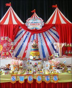 Circus Backdrop for Party | Circus Party #circus #party | Party ideas