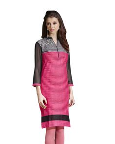 Pink   lush print Cotton Kurtis       Fabric:   Cotton       Work:   print       Type:   Kurtis       Color:   Pink