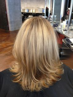 Blonde highlights & lowlights with aveda enlightener & full spectrum color by Michelle Joy Hair. www.MichelleJoyBeauty.com