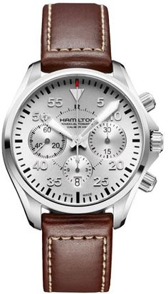 H64666555 - Authorized Hamilton watch dealer - Mens Hamilton Khaki Pilot Auto Chrono, Hamilton watch, Hamilton watches