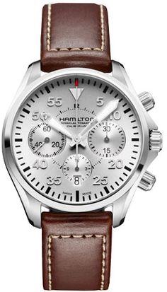 H64666555 - Authorized Hamilton watch dealer - Mens Hamilton Khaki Pilot Auto Chrono, Hamilton watch, Hamilton watches