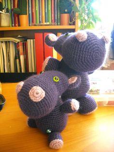 Bichus Amigurumis: Hipopotamitis - Patron Amigurumi Gratis