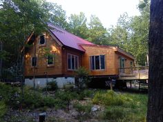 Conestoga Log Cabins has been providing quality small cabin kits to customers since Contact us today for more information on our Vacationer Log Cabin. Barn Garage, Garage Kits, Prefab Cabins, Log Cabins, Off Grid House, Log Cabin Kits, Exterior, House Styles, Home Decor