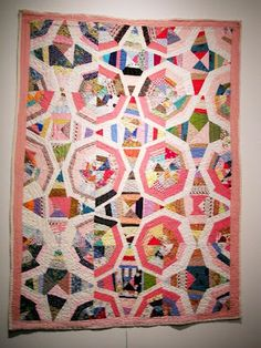 spiderweb quilt shown at the Bellvue Art Museum