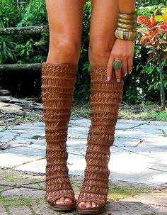 Summer Tan & Braided Boots #NWVintage