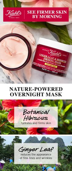 Kiehl's Overnight Firming Mask is the next step in your anti-aging skin care routine. Made with Ginger Leaf & Hibiscus to hydrate and firm your skin while reducing the appearance of fine lines and wrinkles! It works throughout the night to reveal smoother skin by morning – making skin younger looking over time!