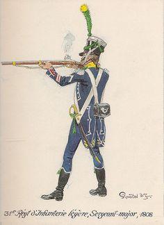 Sergente maggiore del 31 rgt. fanteria leggera