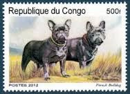 Znalezione obrazy dla zapytania french bulldog post stamp