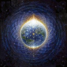 Modern Esoteric Art And Symbolism - Autumn Skye Morrison - Earth Flower Of Life Arte Pink Floyd, L Ascension, Art Visionnaire, Les Chakras, Nova Era, Emily Rose, Visionary Art, Flower Of Life, Illuminati