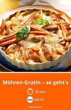 Hähnchen-Möhrengratin - smarter - Kalorien: 546.01 kcal - Zeit: 35 Min. | eatsmarter.de