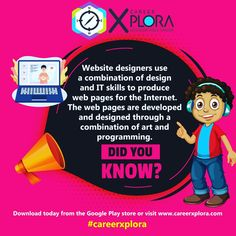 Download the CareerXplora App for FREE career information, or chat live to a career facilitator today about your options after school 😄 #careerinfo #careerhelp #websitedesign #subjectchoices Career Information, Career Help, After School, Google Play, Did You Know, English, App, Live, Apps