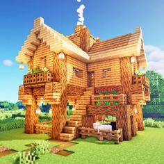 Minecraft Bauwerke, Casa Medieval Minecraft, Minecraft House Plans, Cute Minecraft Houses, Amazing Minecraft, Minecraft House Designs, Minecraft Construction, Minecraft Blueprints, Minecraft Creations