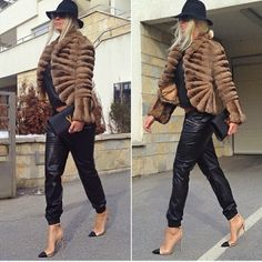 Lucy May's Fashion Blog: Fur, Leather and Heels mmm I Love it. Do you ???