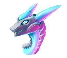 Robot dragon head