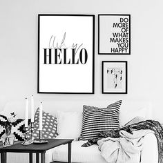 Why Hello poster. Instant download. Scandinavian by smukprintables