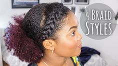 4 Quick and Easy Natural Hairstyles [Video] - http://community.blackhairinformation.com/video-gallery/natural-hair-videos/4-quick-easy-natural-hairstyles-video