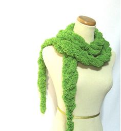 Lime Green Chain Scarf by ArlenesBoutique on Etsy, $15.00